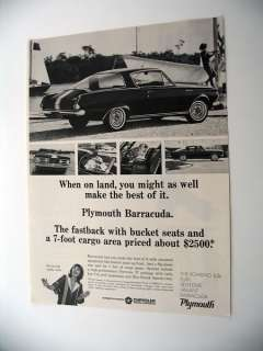 Plymouth Barracuda Fastback 1965 print Ad