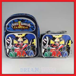 14 Power Rangers Samurai Backpack and Lunch Bag Set M