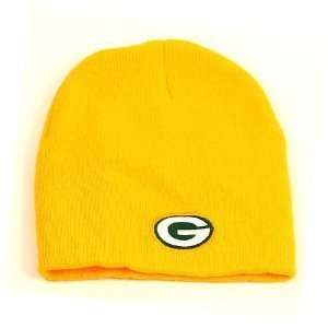NFL Green Bay Packers Yellow Cuffless Embroidered Team Knit Beanie Hat