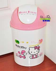Hello Kitty 12 Height Trash Can Waste Garbage Bin Pink