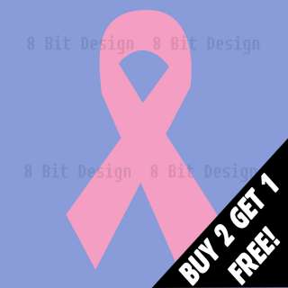 Breast Cancer Ribbon Decal Vinyl Window Sticker Car Laptop Survivor